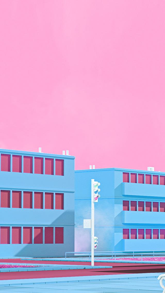 freeios8.com-iphone-4-5-6-plus-ipad-ios8-bf56-school-anime-illust-blue-minimal-simple-art