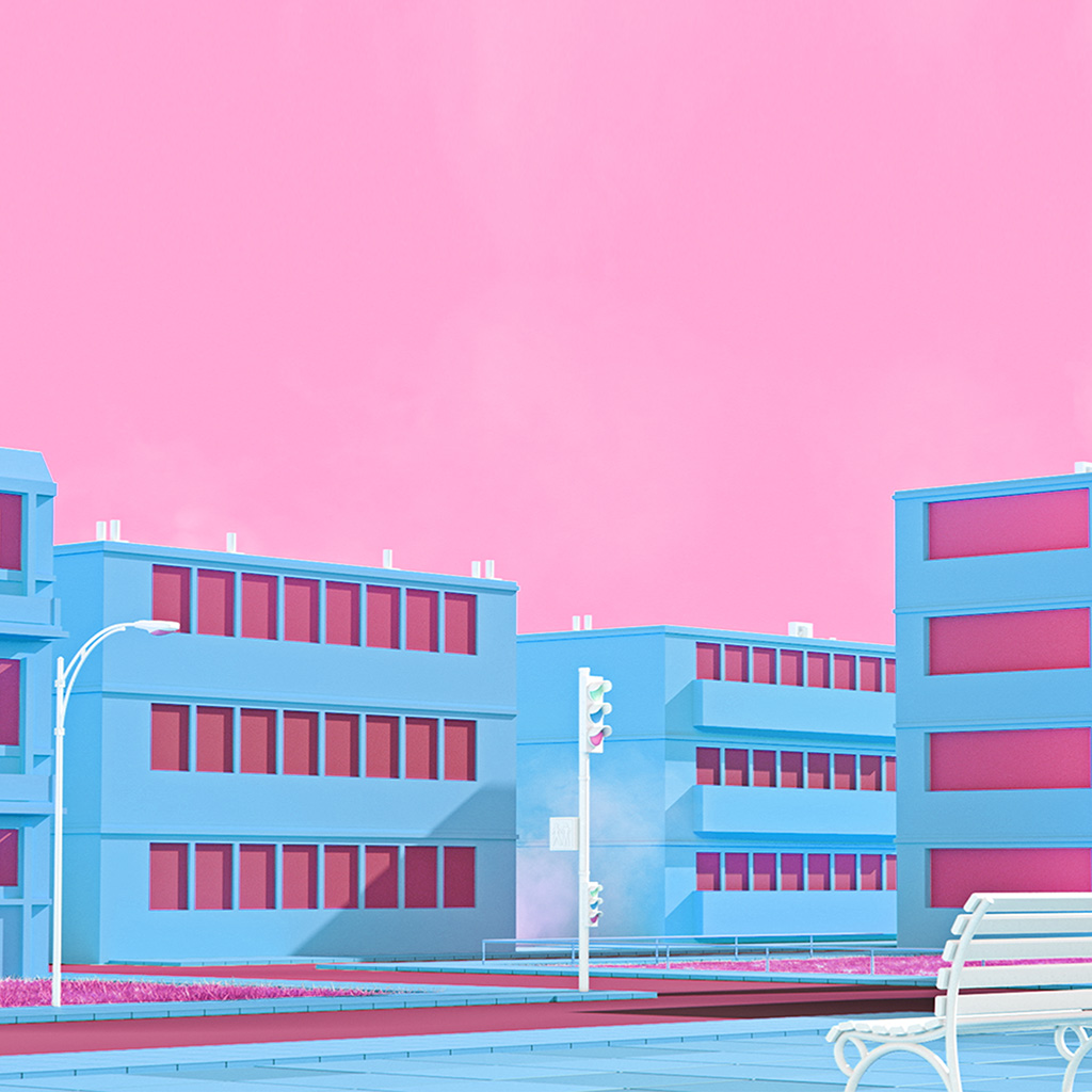 android-wallpaper-bf56-school-anime-illust-blue-minimal-simple-art-wallpaper