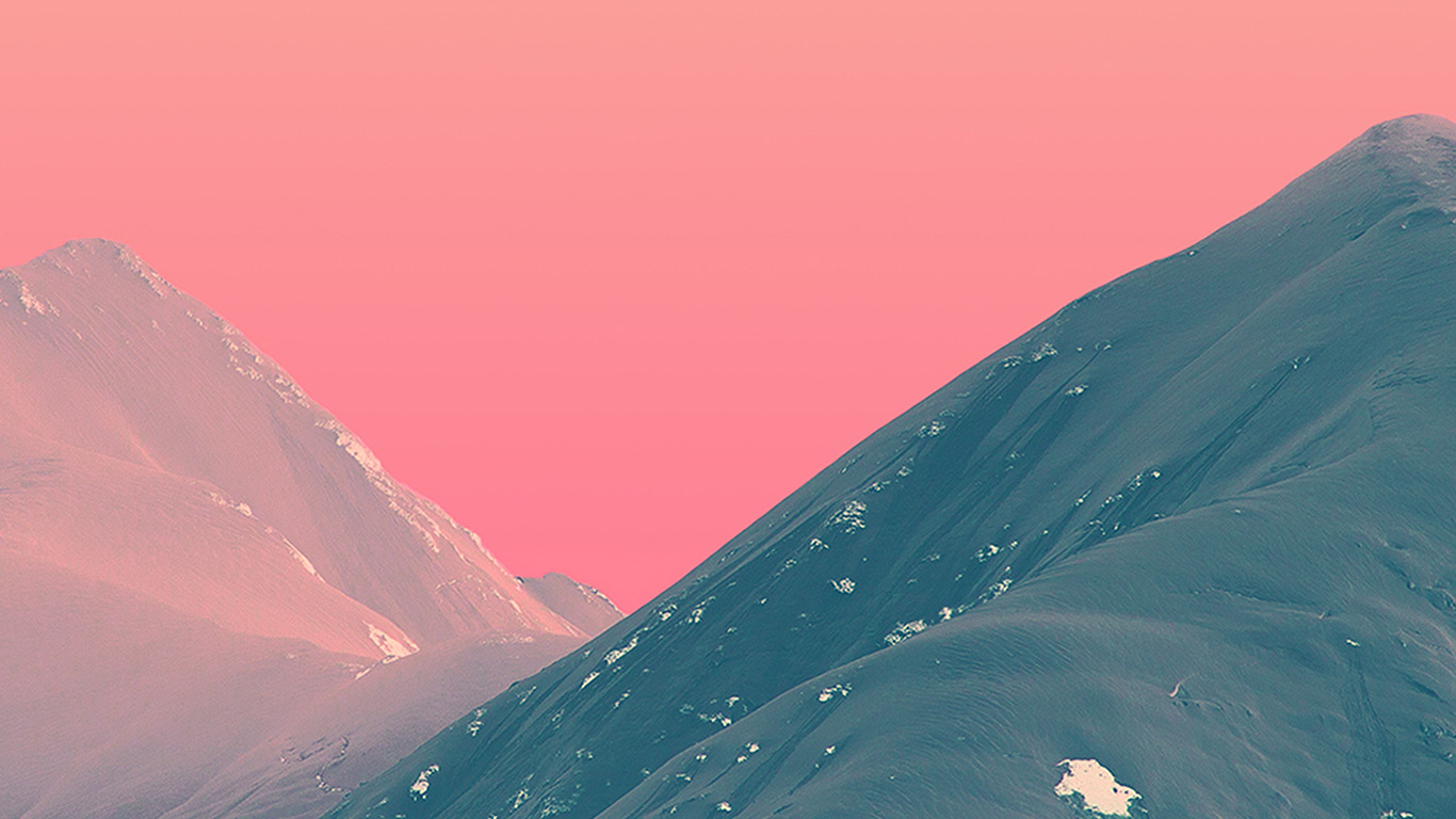 Wallpaper For Desktop Laptop Bf71 Mountain Pink Nature Art