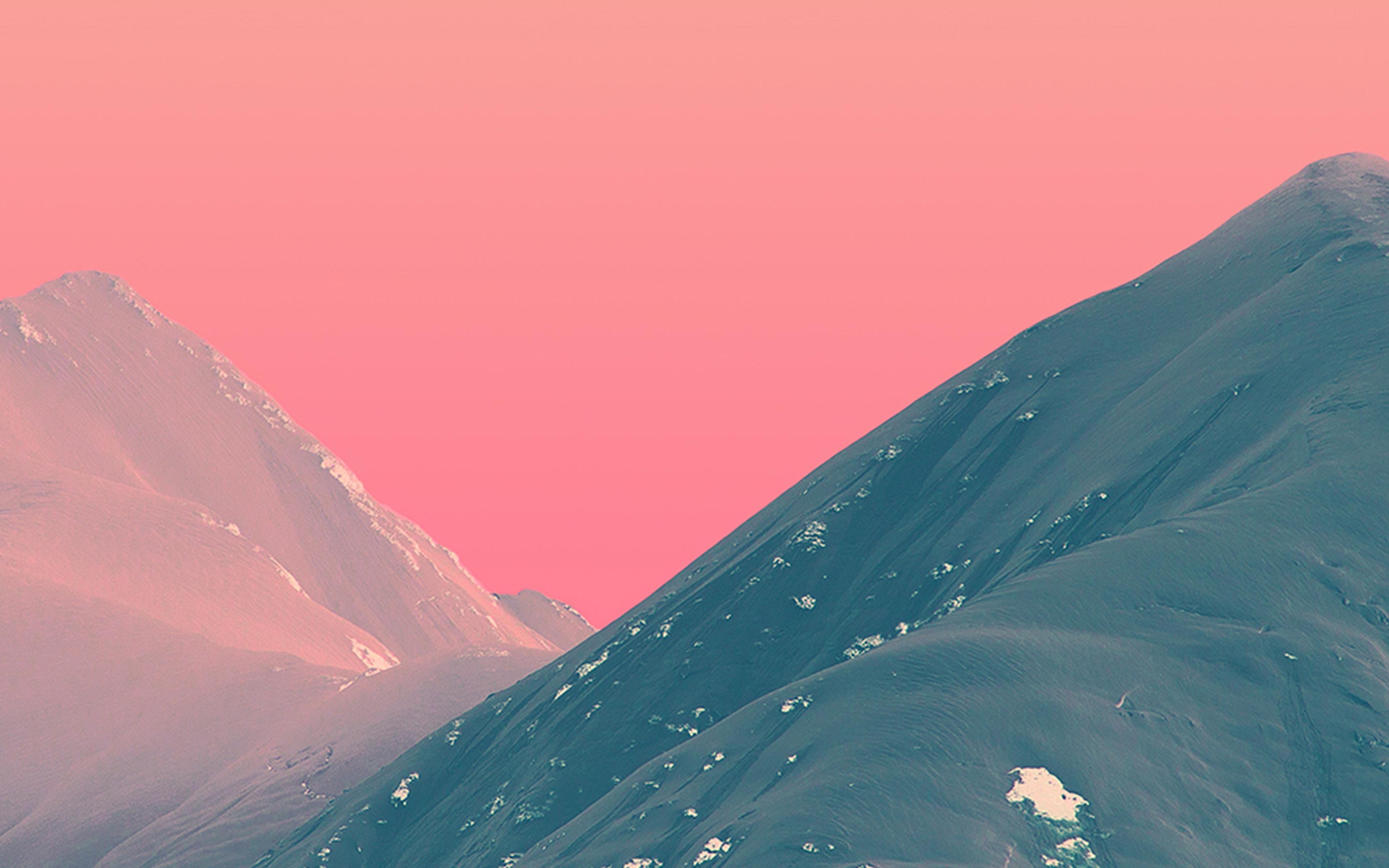 wallpaper for desktop, laptop   bf71-mountain-pink-nature-art
