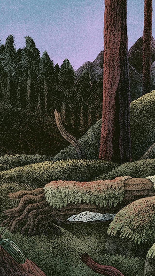 freeios8.com-iphone-4-5-6-plus-ipad-ios8-bf75-wood-forest-paint-illustration-art