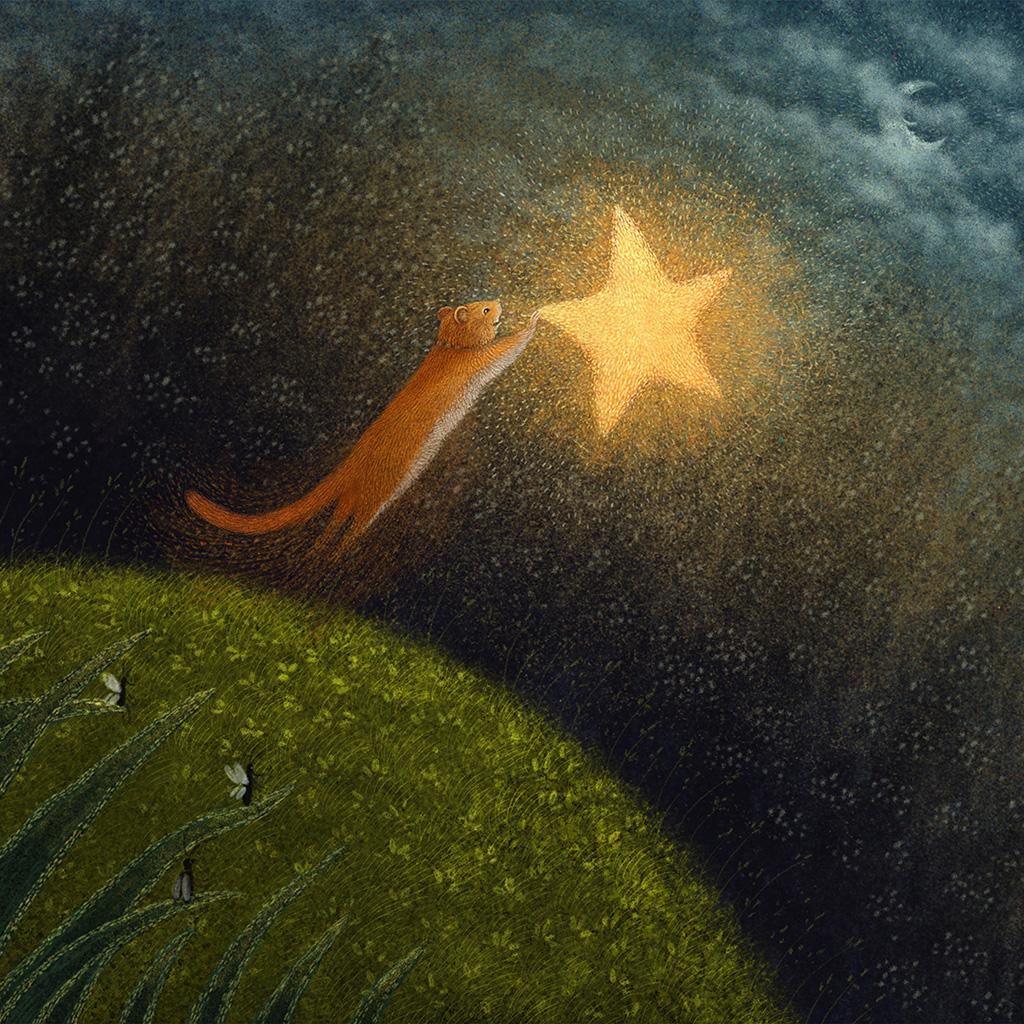 android-wallpaper-bf95-star-squirrel-illustration-animal-art-wallpaper