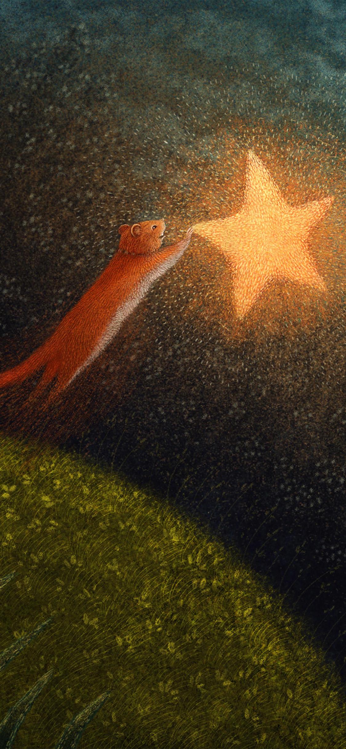 iPhonexpapers.com-Apple-iPhone-wallpaper-bf96-star-squirrel-illustration-animal-art-anime