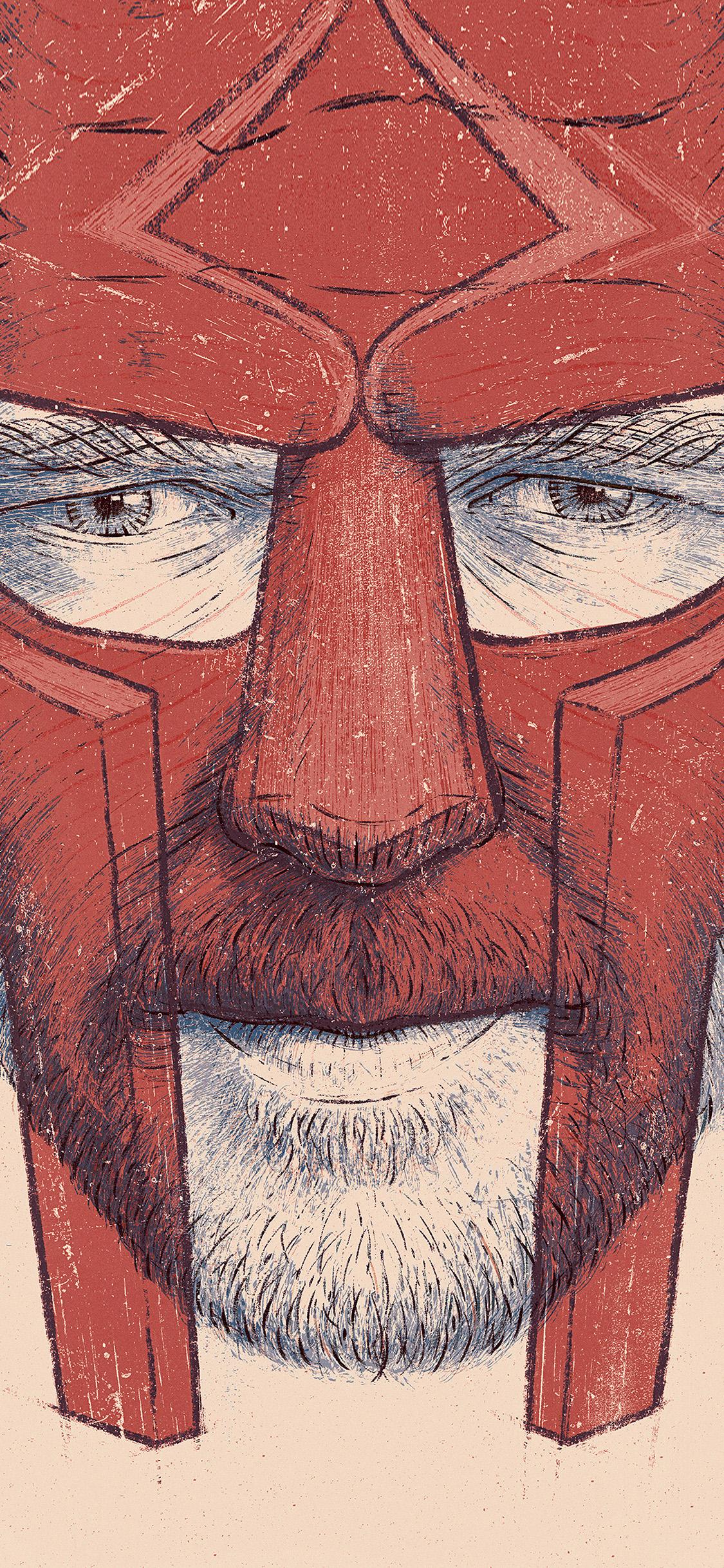 iPhonexpapers.com-Apple-iPhone-wallpaper-bg01-gladiator-anime-illustration-red-art