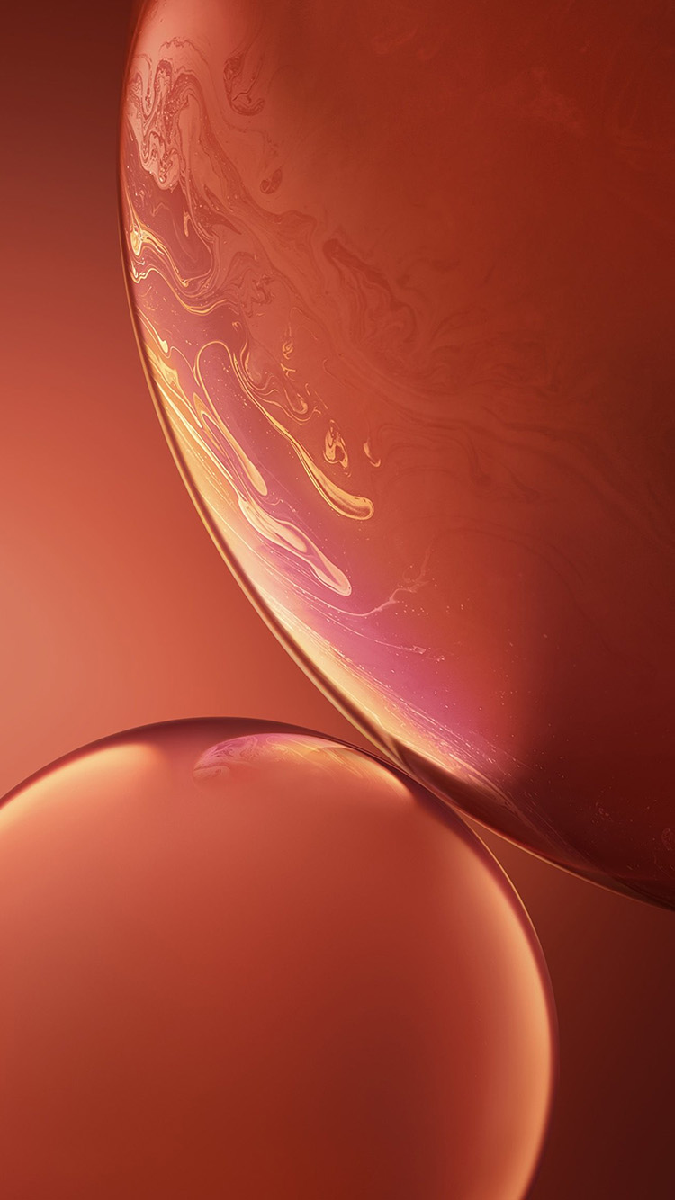 iPhonepapers.com-Apple-iPhone-wallpaper-bg34-apple-iphone-xs-red-official-art-orange-bubble