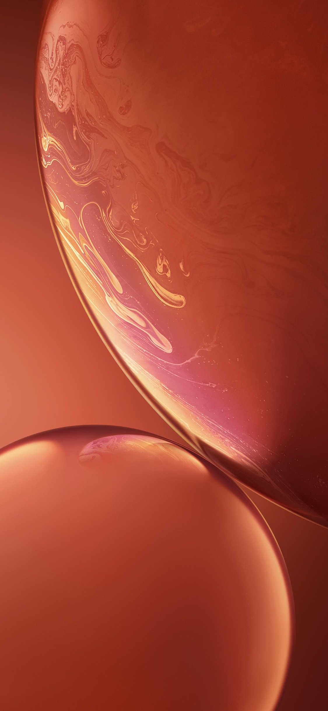 iPhonexpapers.com-Apple-iPhone-wallpaper-bg34-apple-iphone-xs-red-official-art-orange-bubble