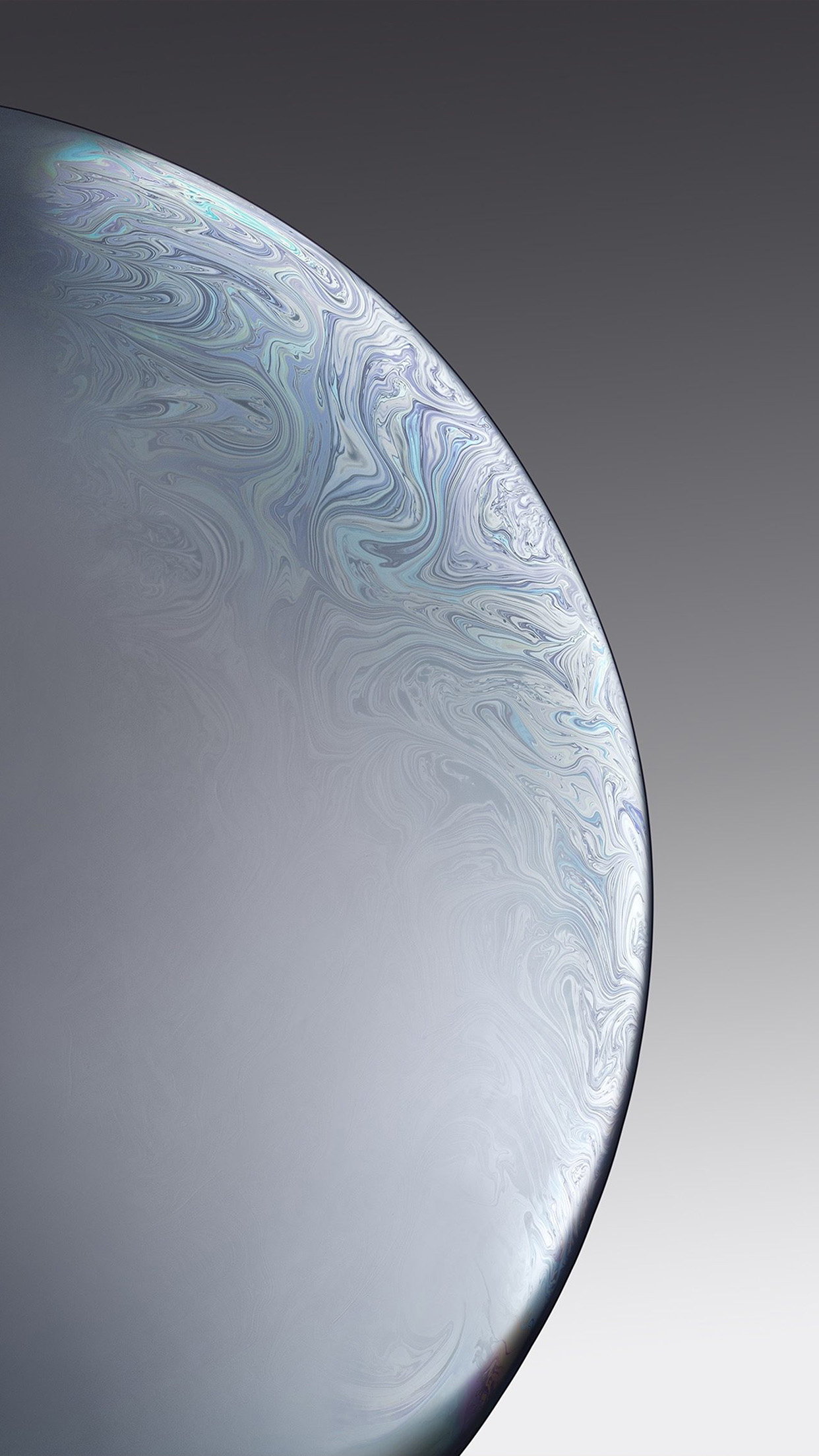 Bg40 Apple Iphone Xs Space Official Art Gray White Bubble