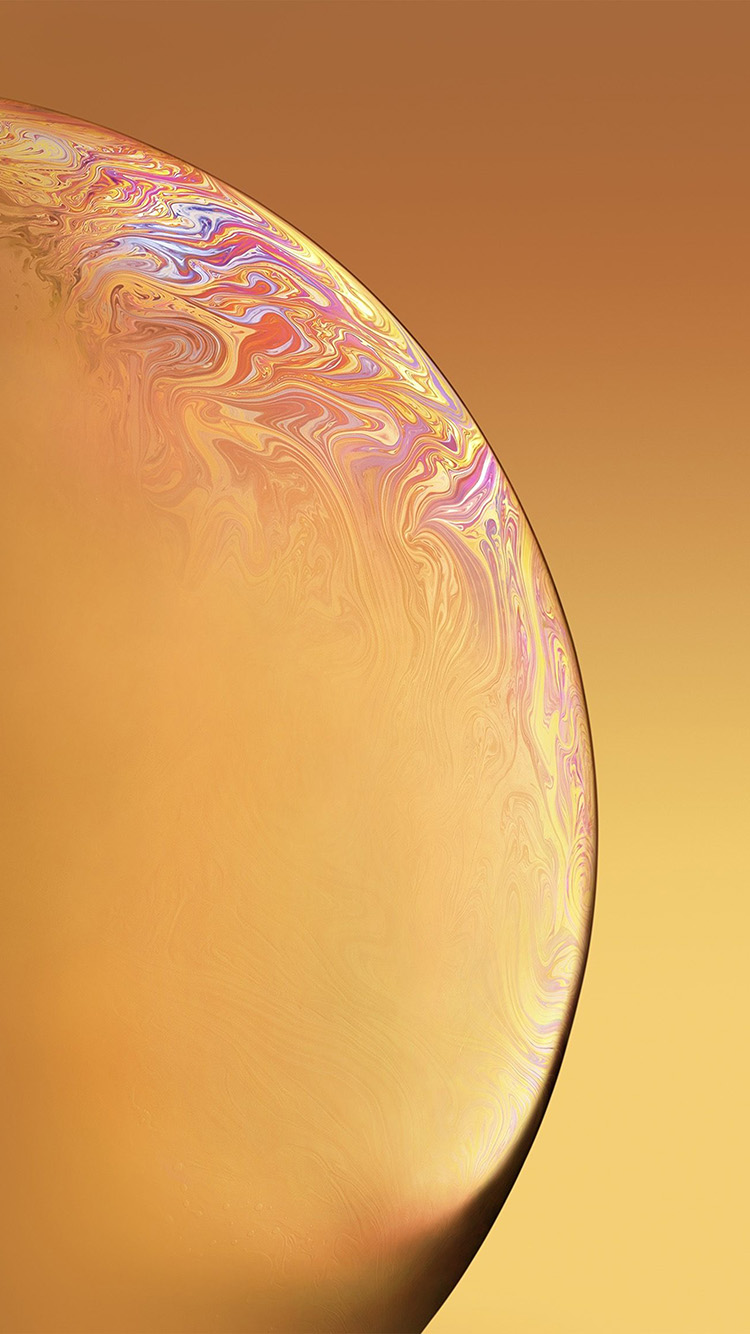 iPhonepapers.com-Apple-iPhone-wallpaper-bg41-apple-iphone-xs-space-official-art-yellow-bubble