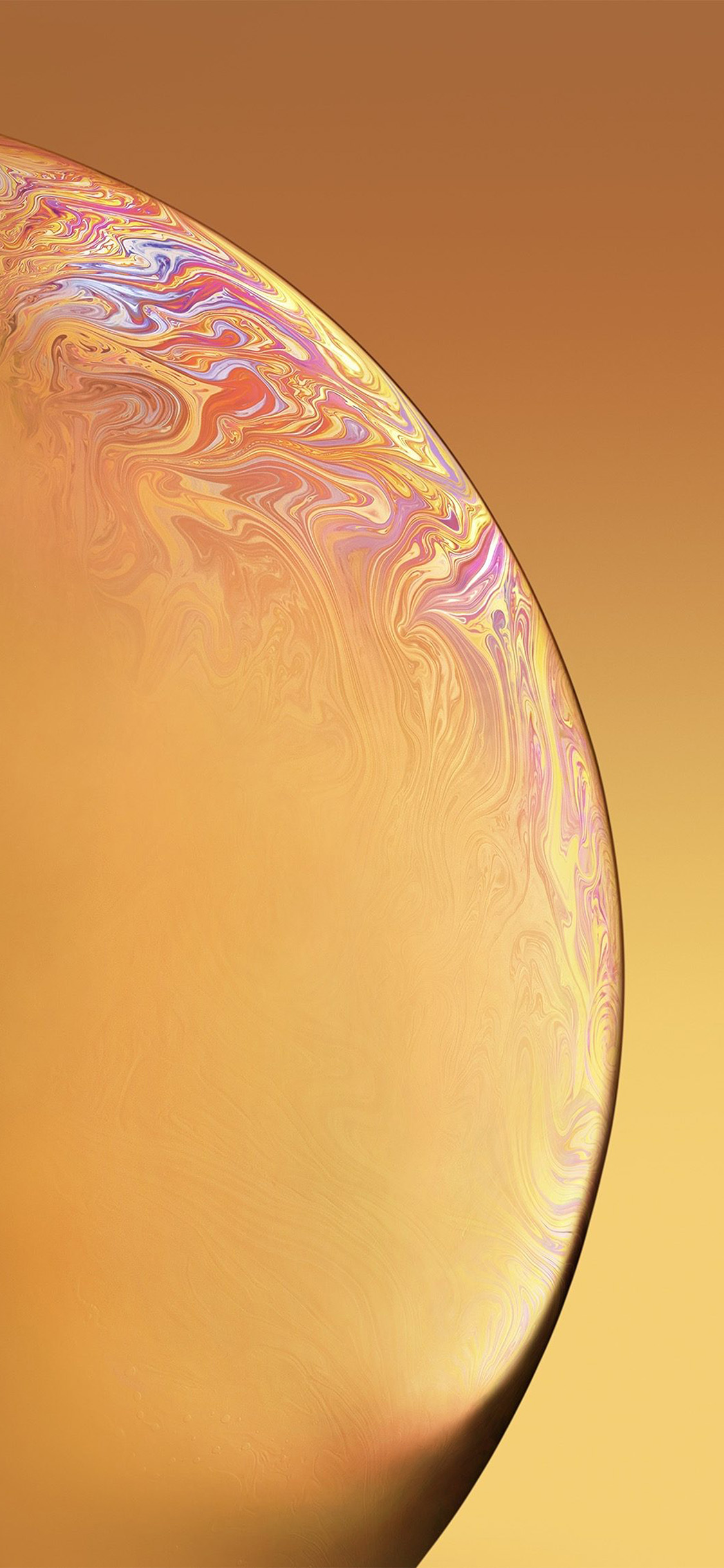 iPhonexpapers.com-Apple-iPhone-wallpaper-bg41-apple-iphone-xs-space-official-art-yellow-bubble
