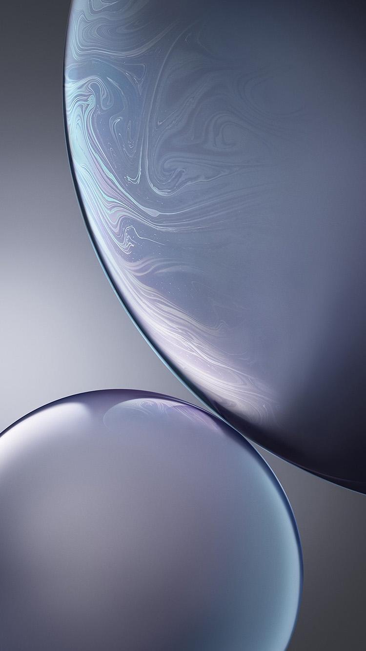 Bg44 Gray Apple Iphone Xs Max Official Art Bubble Wallpaper