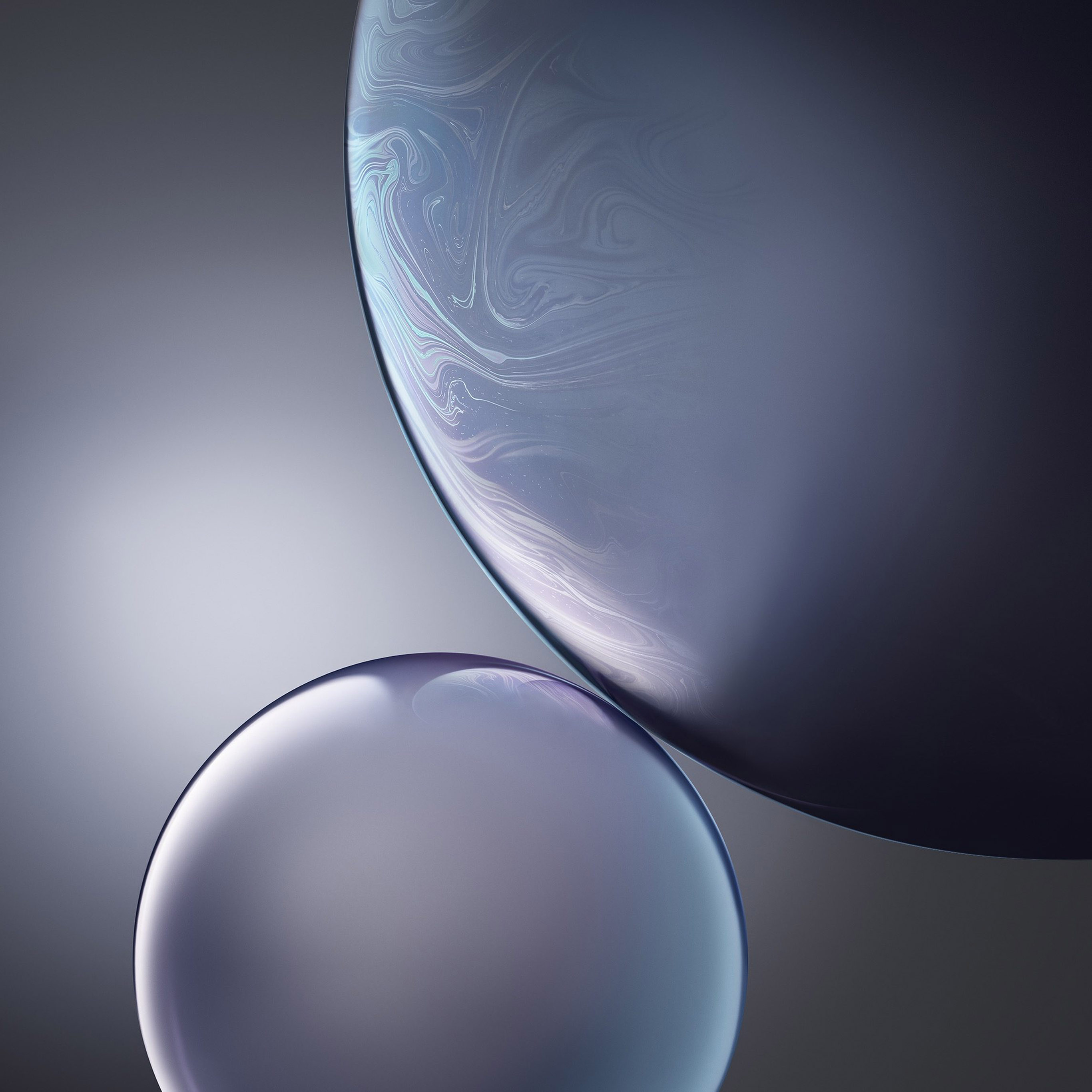 Bg44 Gray Apple Iphone Xs Max Official Art Bubble Wallpaper