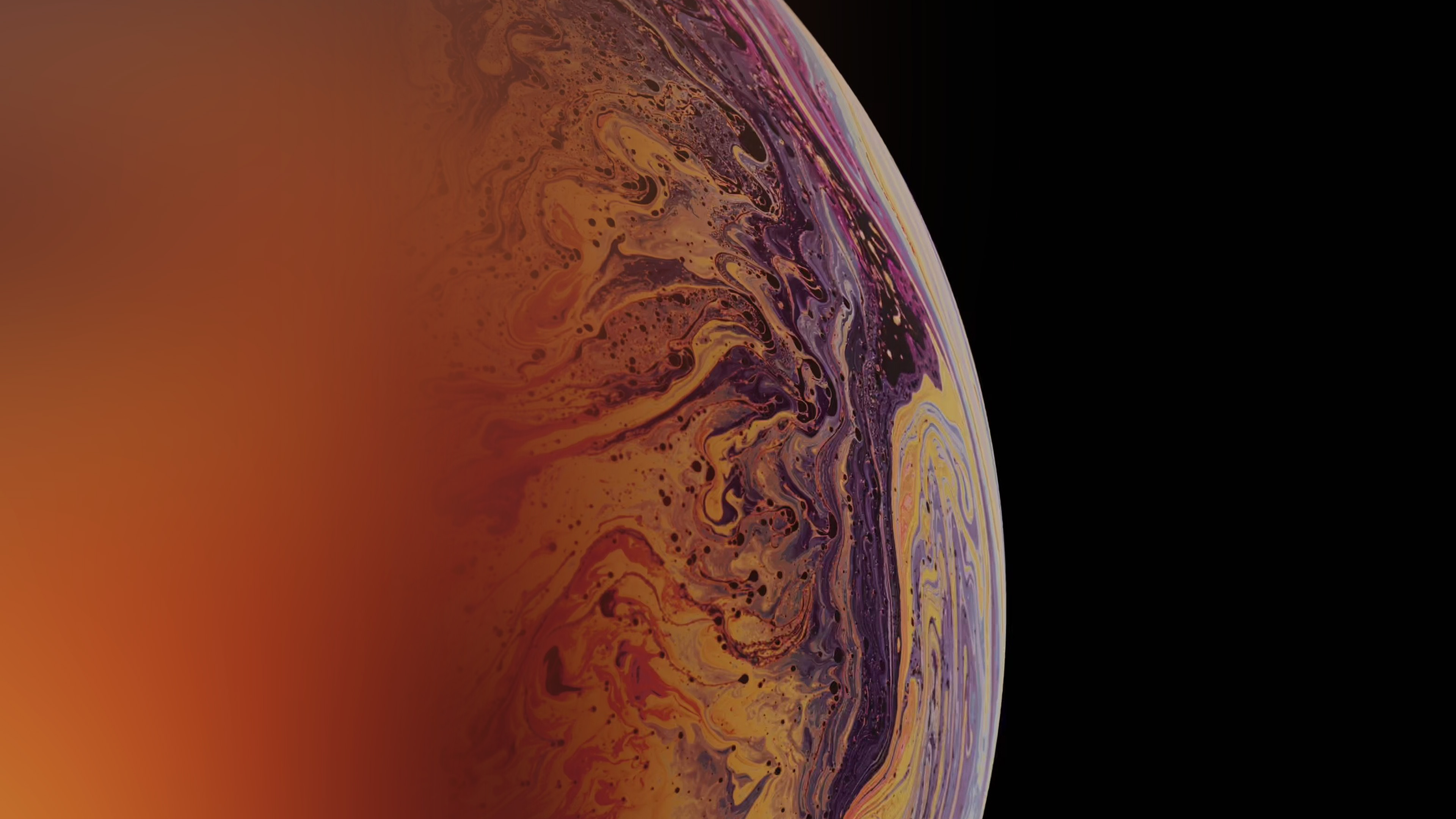 Bg45 Apple Bubble Rainbow Iphone Xs Max Art Wallpaper