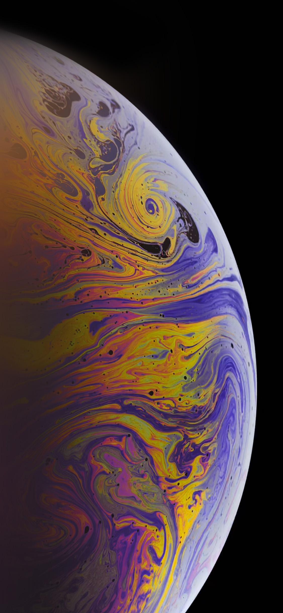 iPhonexpapers.com-Apple-iPhone-wallpaper-bg46-apple-bubble-rainbow-iphone-xs-max-art-dark