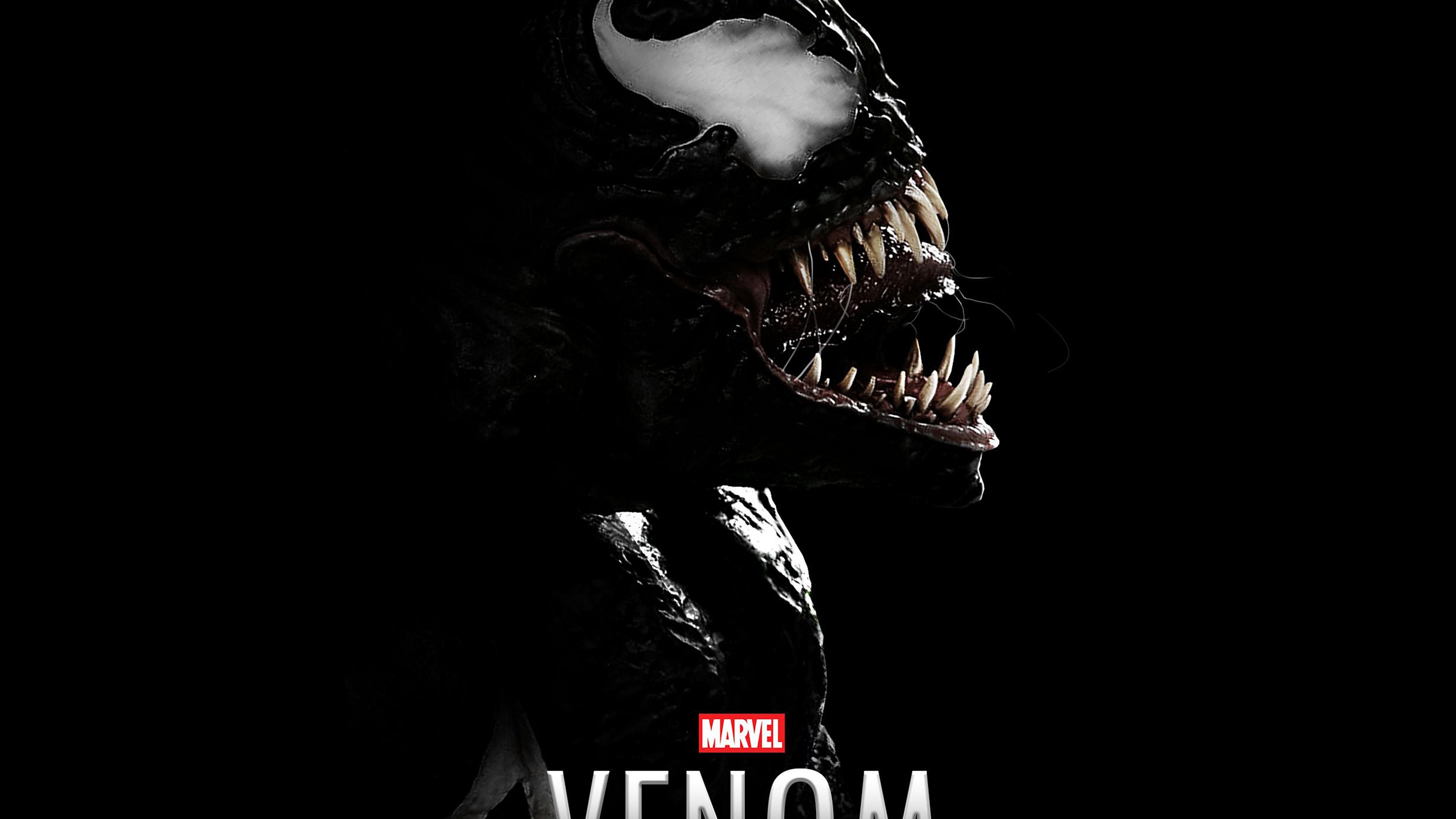 Papers Co Desktop Wallpaper Bg49 Venom Dark Marvel Hero Dark