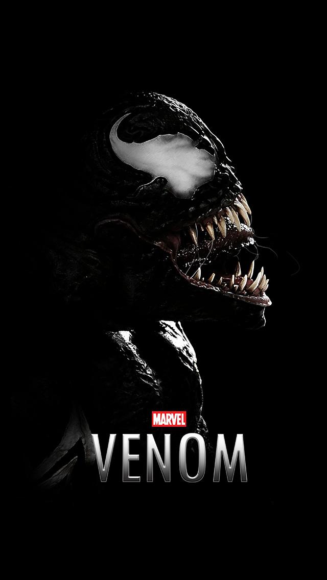 freeios8.com-iphone-4-5-6-plus-ipad-ios8-bg49-venom-dark-marvel-hero-dark-logo-art