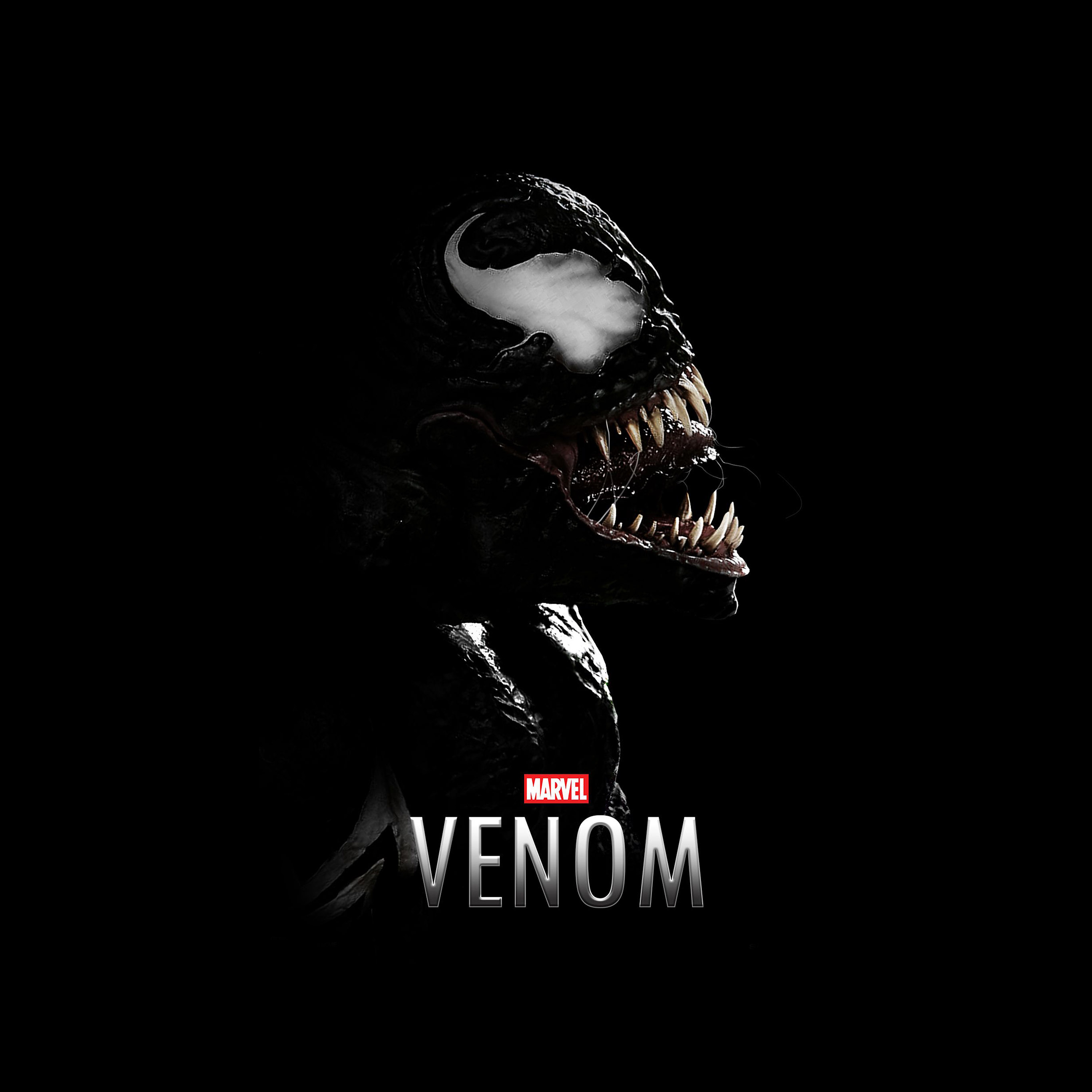 papers.co bg49 venom dark marvel hero dark logo art 40 wallpaper