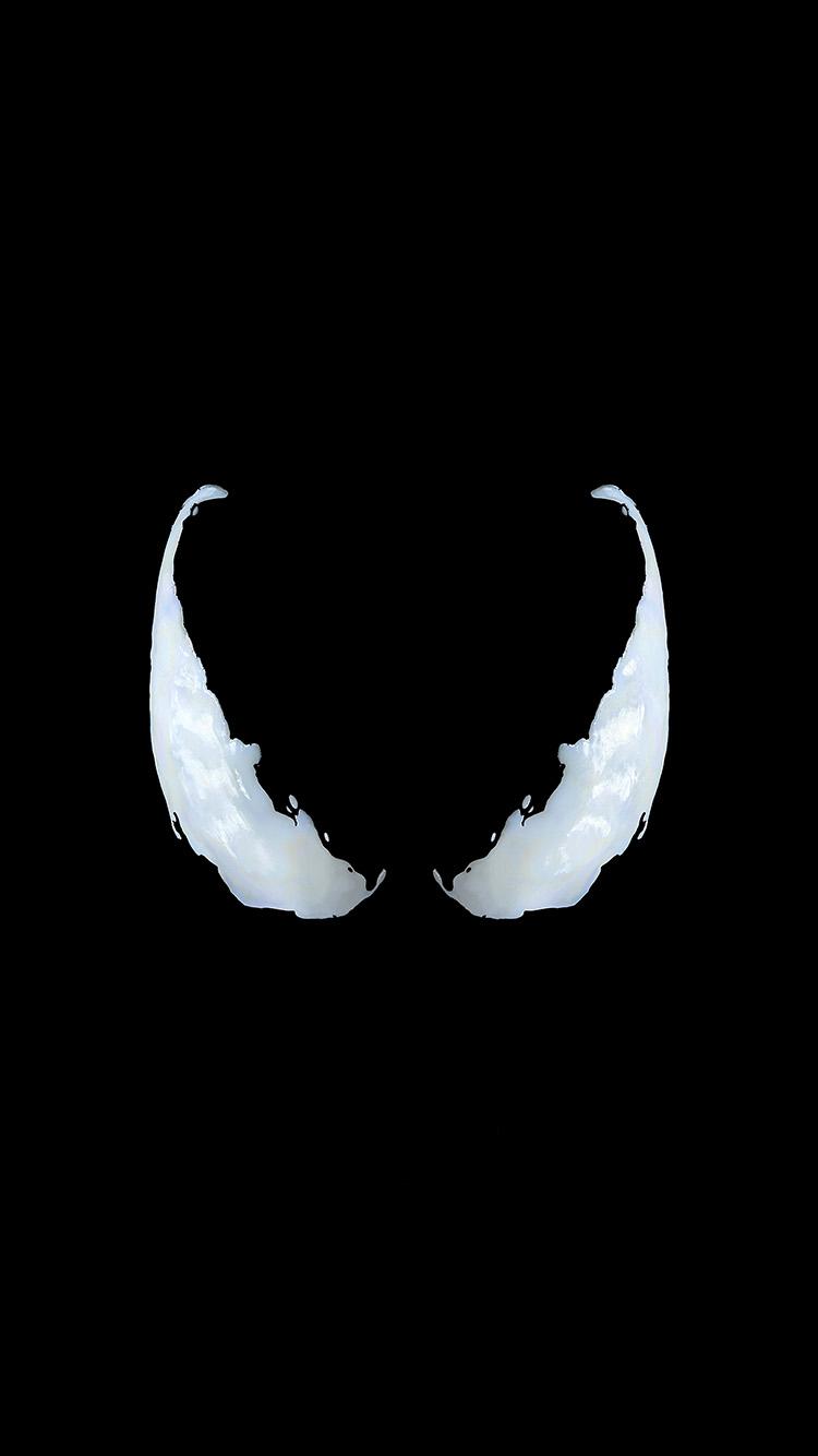 iPhonepapers.com-Apple-iPhone-wallpaper-bg50-marvel-venom-logo-dark-eye-art-simple-minimal