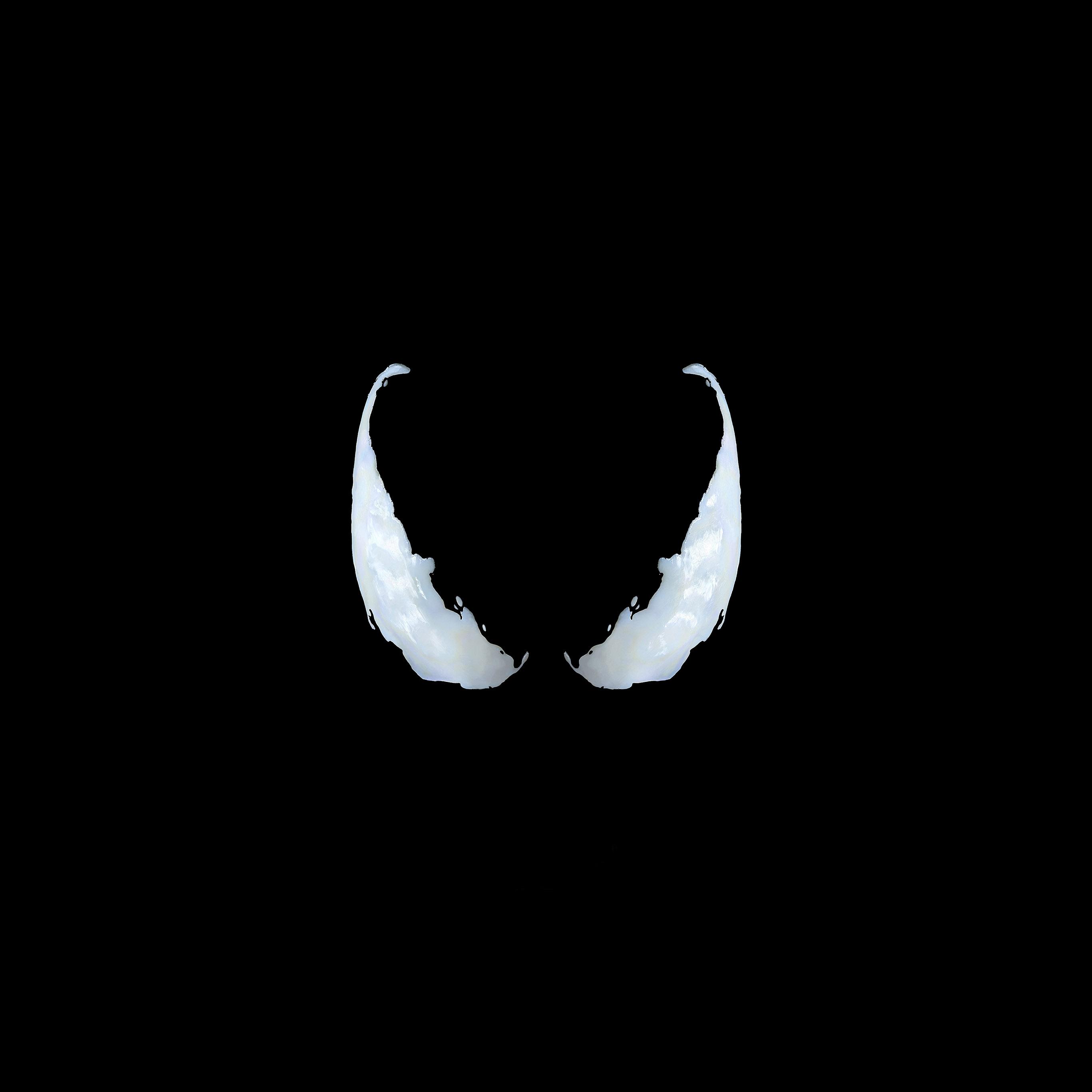 Venom Wallpapers: Bg50-marvel-venom-logo-dark-eye-art-simple-minimal-wallpaper