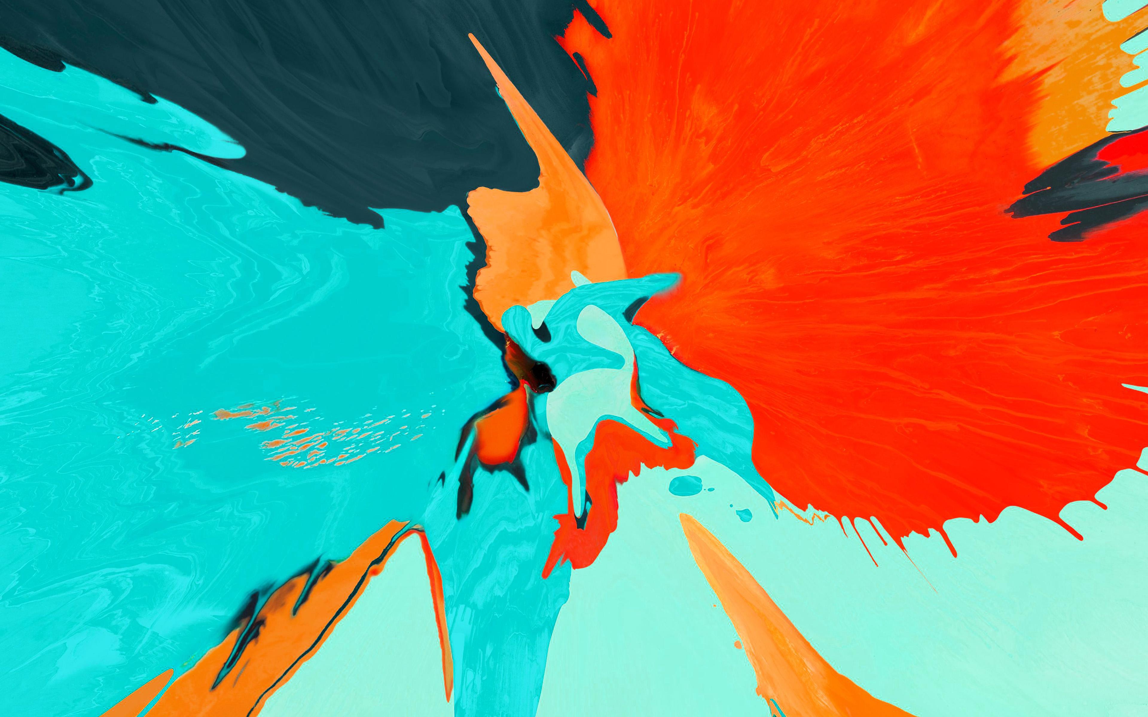 Bg70 Apple Paint Orange Ipad Pro Art Color Wallpaper