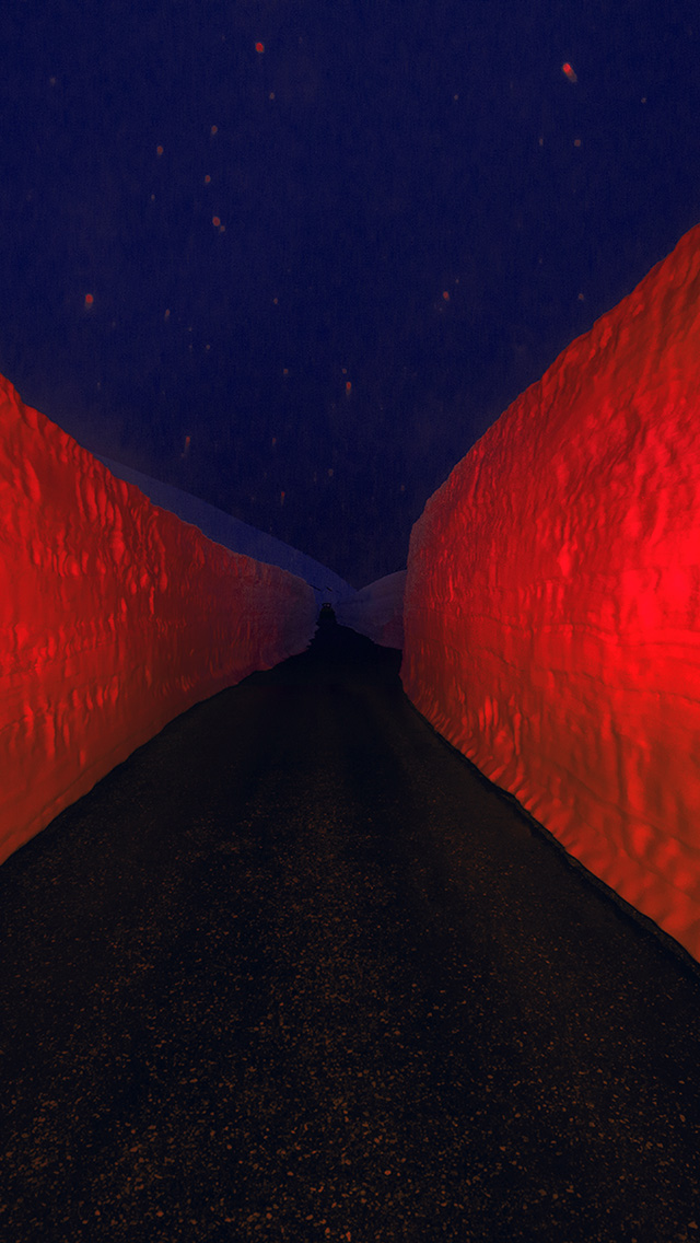 freeios8.com-iphone-4-5-6-plus-ipad-ios8-bg85-minimal-winter-orange-road-art
