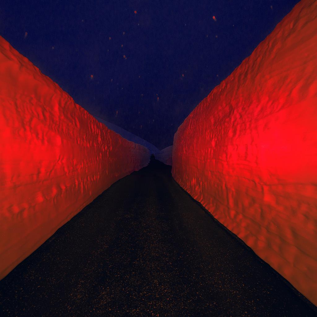android-wallpaper-bg85-minimal-winter-orange-road-art-wallpaper
