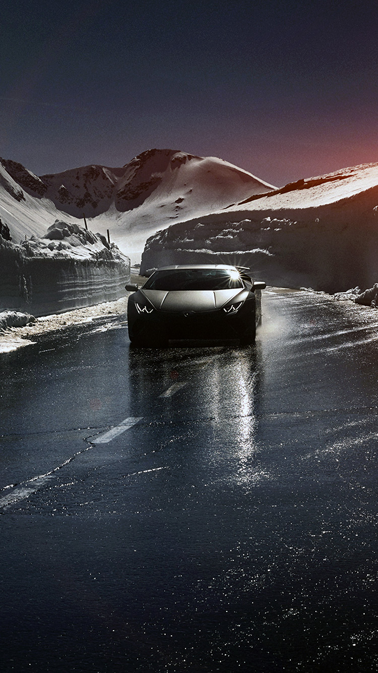 iPhonepapers.com-Apple-iPhone-wallpaper-bg86-car-lamborghini-car-dark-road-drive-art-winter