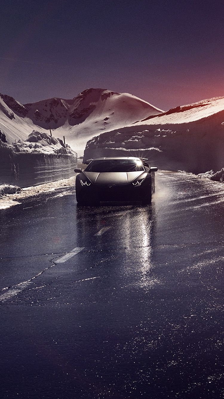 iPhone7papers.com-Apple-iPhone7-iphone7plus-wallpaper-bg87-car-lamborghini-car-dark-road-drive-art-winter-flare