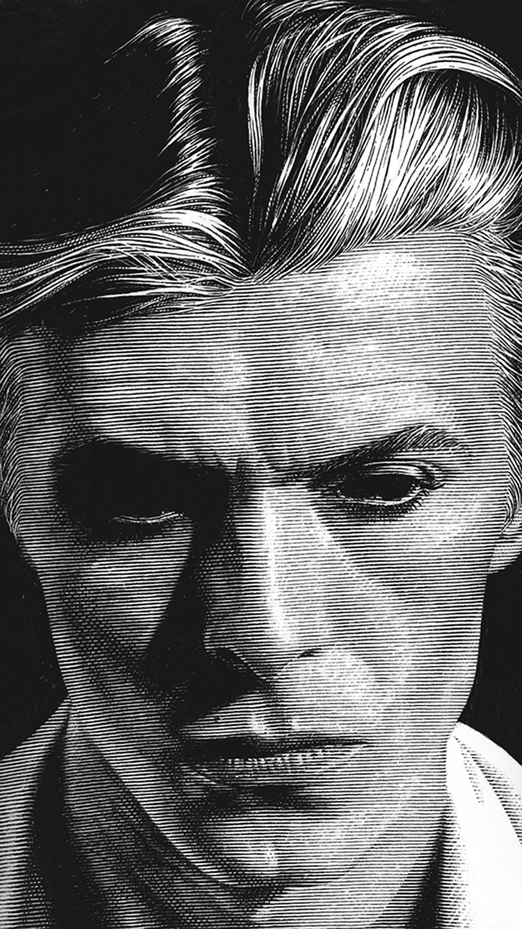 Papers.co-iPhone5-iphone6-plus-wallpaper-bg91-david-bowie-art-face-singer-artist-bw-dark-illust-anime