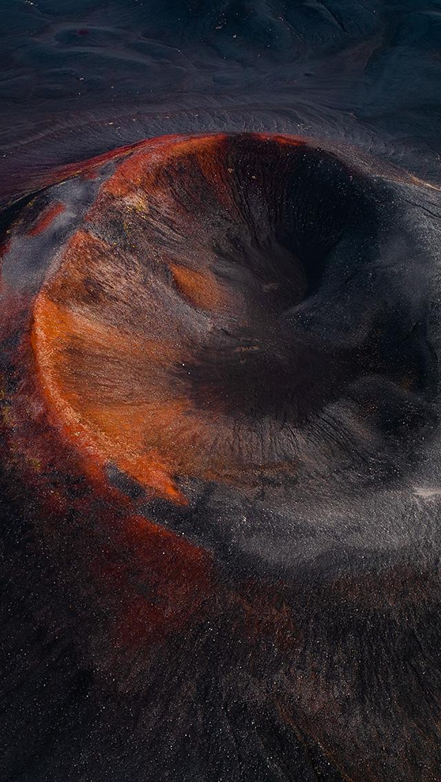 freeios8.com-iphone-4-5-6-plus-ipad-ios8-bh04-fire-mountain-dust-nature-art