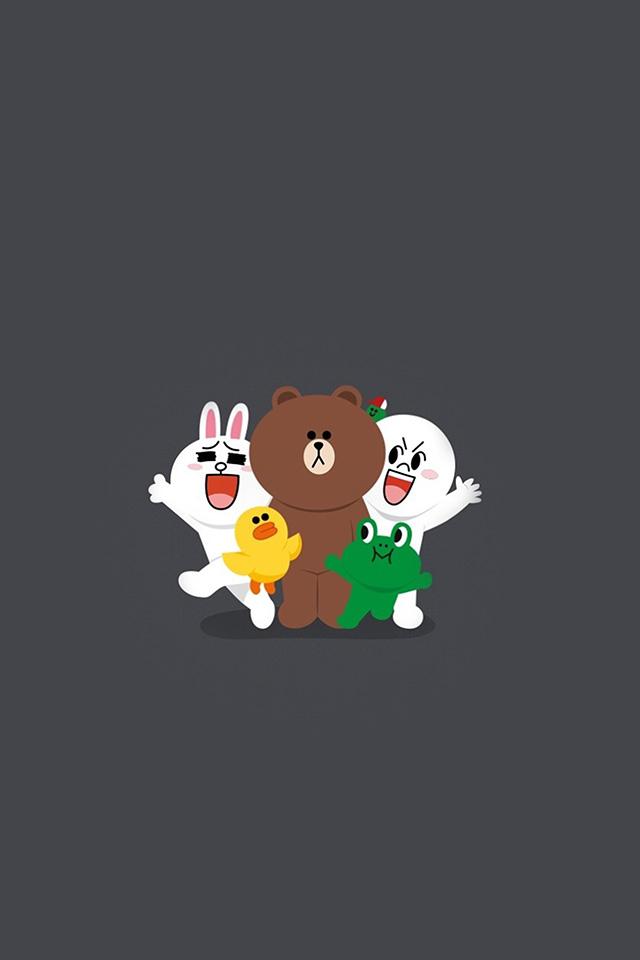 Bh18 Line Friends Chracter Cute Art Anime Wallpaper