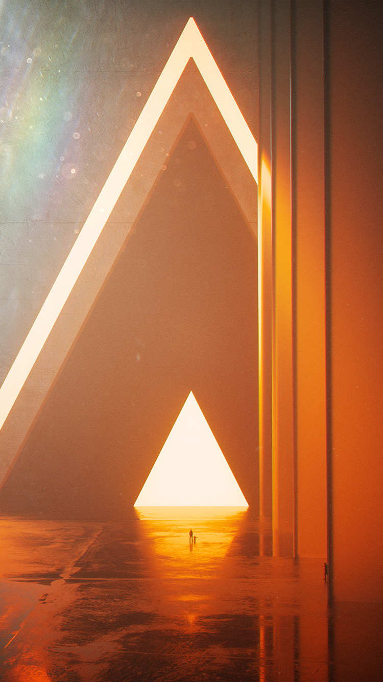 Papers.co-iPhone5-iphone6-plus-wallpaper-bh20-triangle-digital-light-orange-art