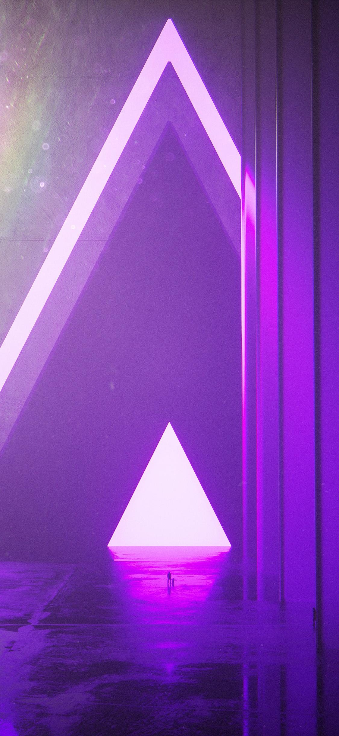 Iphone11papers Com Iphone11 Wallpaper Bh22 Triangle Digital Light Purple Art