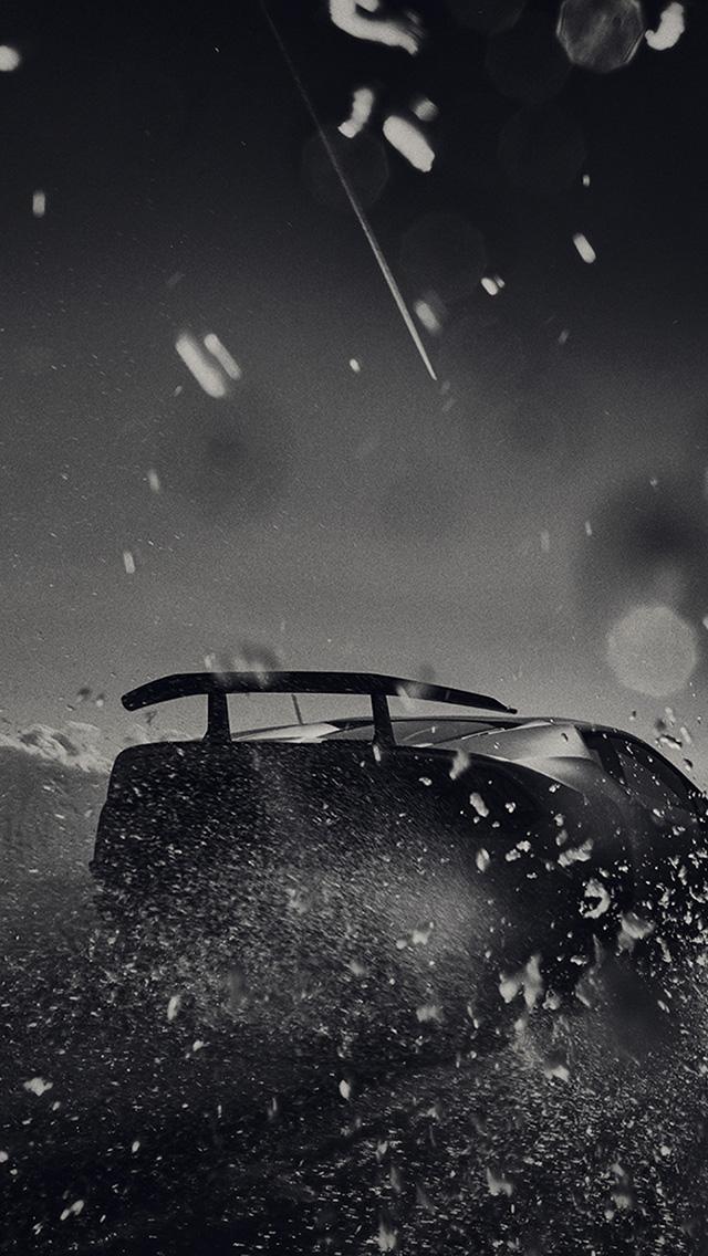 Papers Co Iphone Wallpaper Bh34 Racing Car Bw Dark Art
