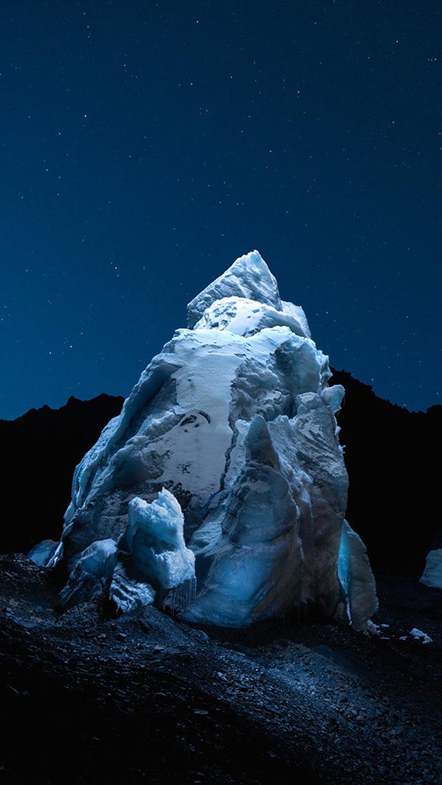freeios8.com-iphone-4-5-6-plus-ipad-ios8-bh38-iceberg-dark-night-sky-art