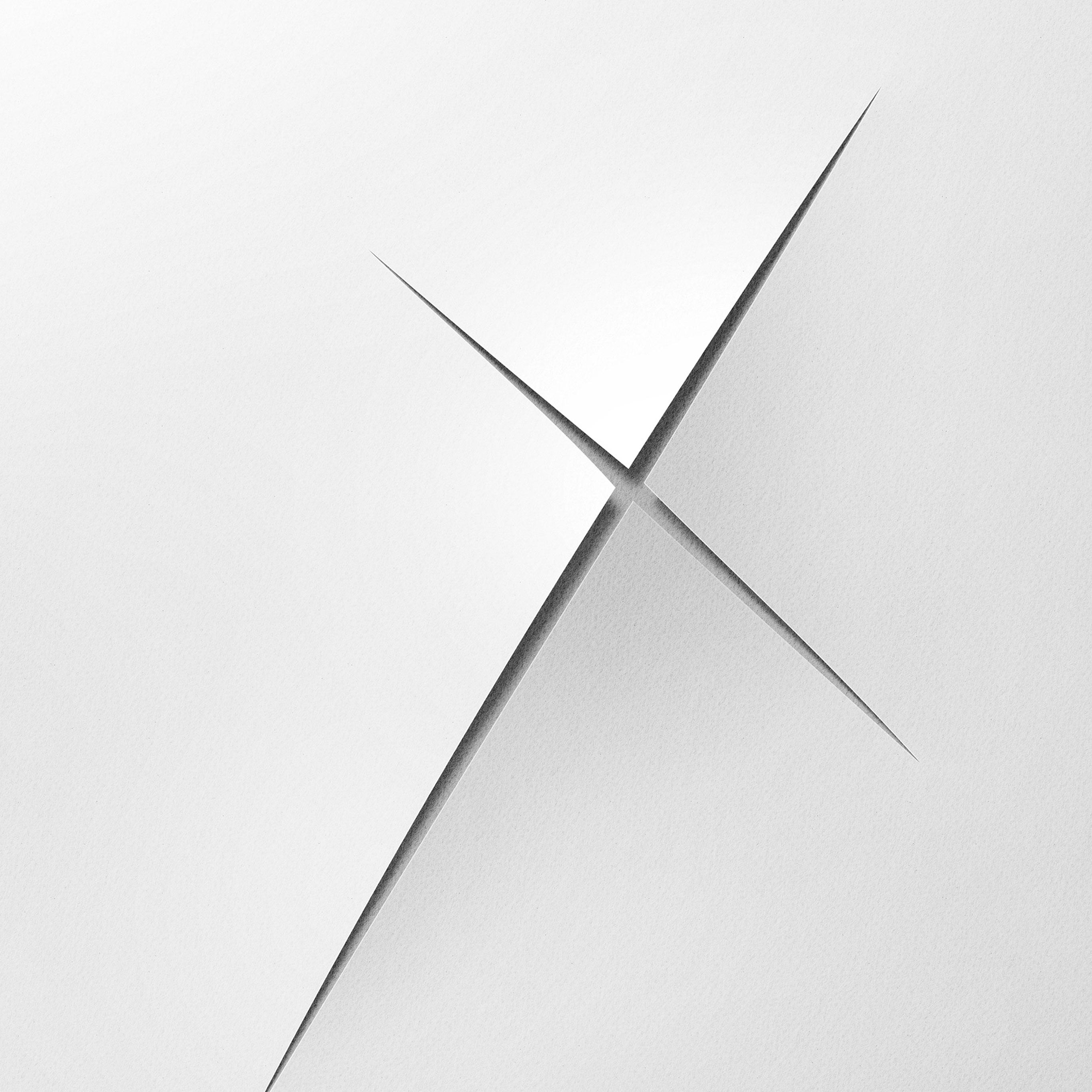 Bh79 White Cut Blank Knife Art Wallpaper