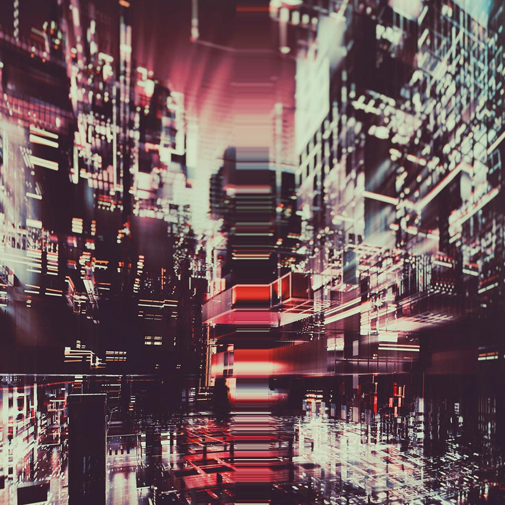 wallpaper-bh81-digital-city-red-light-abstract-art-wallpaper