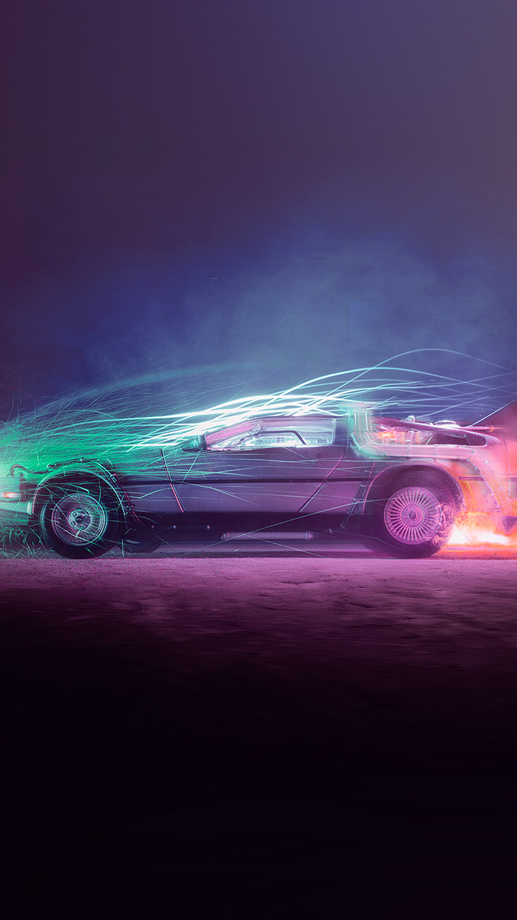 iPhone7papers.com-Apple-iPhone7-iphone7plus-wallpaper-bh85-backtothefuture-car-film-art-night-cool