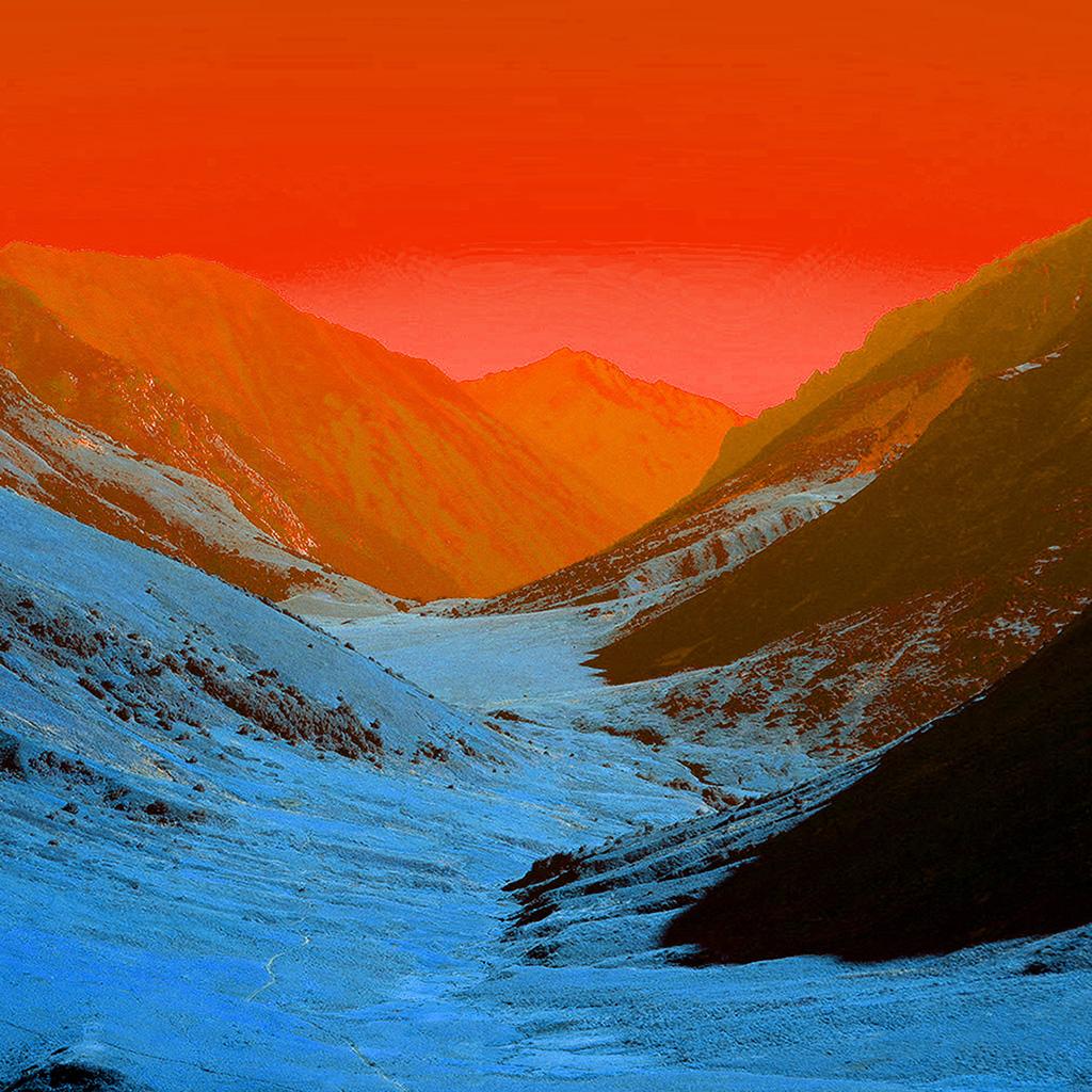 wallpaper-bh91-red-sky-mountain-art-wallpaper