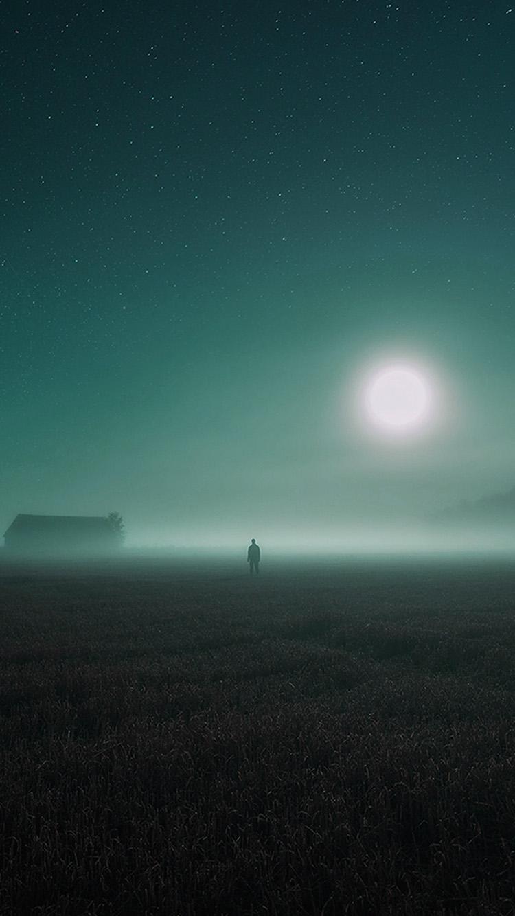 Papers.co-iPhone5-iphone6-plus-wallpaper-bh94-sunrise-fog-field-art-blue