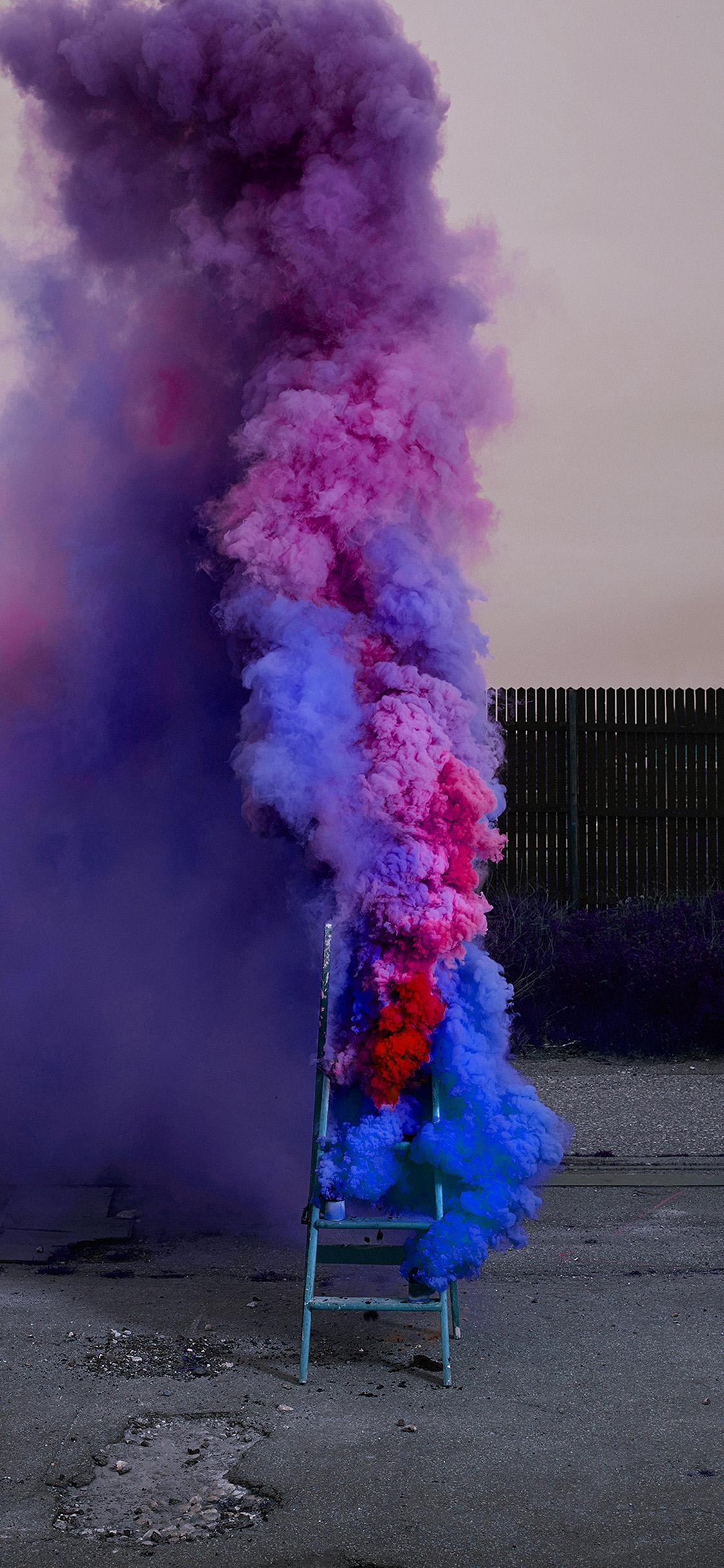 Iphonexpapers Com Iphone X Wallpaper Bi04 Fire Smoke Purple Art