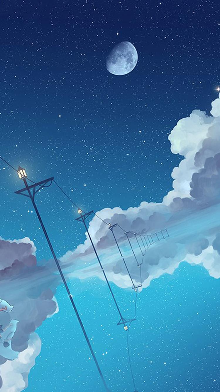 iPhonepapers.com-Apple-iPhone-wallpaper-bi29-illust-star-moon-sky-night-art
