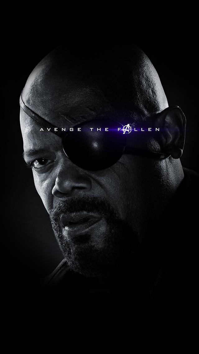 freeios8.com-iphone-4-5-6-plus-ipad-ios8-bi49-avengers-endgame-poster-black-hero-chractor-film-art