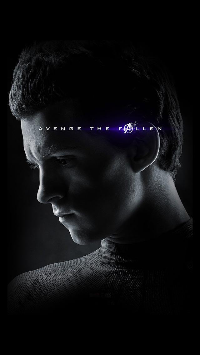 freeios8.com-iphone-4-5-6-plus-ipad-ios8-bi52-spider-man-marvel-endgame-hero-film-poster-art