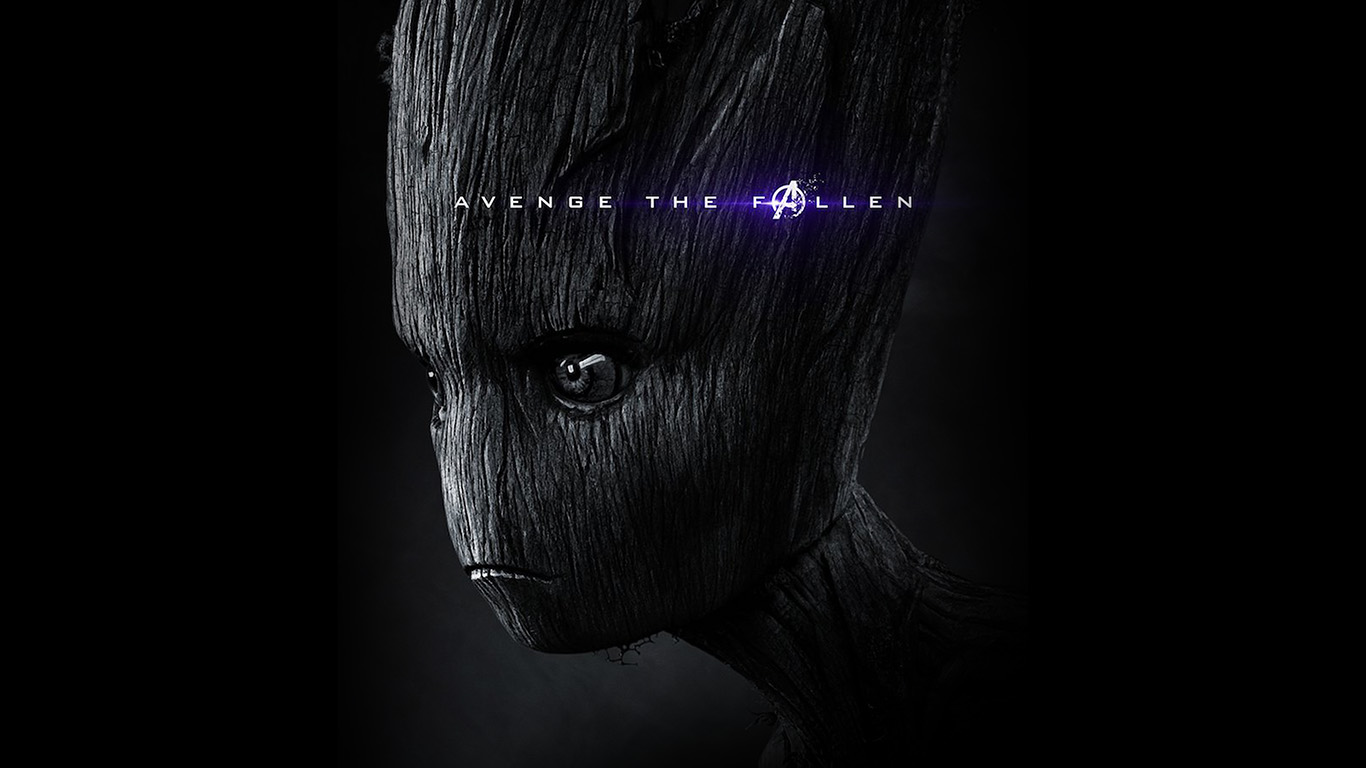 Wallpaper For Desktop Laptop Bi61 Iamggroot Avengers Endgame Marvel Film Poster Art