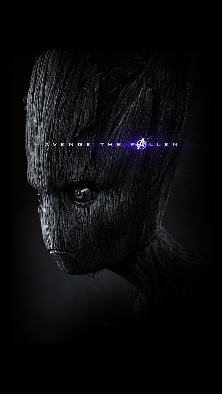 Papersco Iphone Wallpaper Bi61 Iamggroot Avengers Endgame