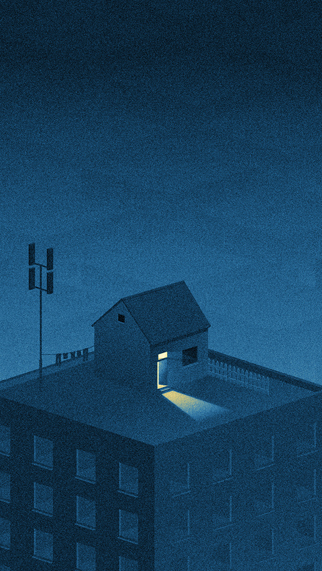freeios8.com-iphone-4-5-6-plus-ipad-ios8-bi84-illust-blue-city-home-dot-art