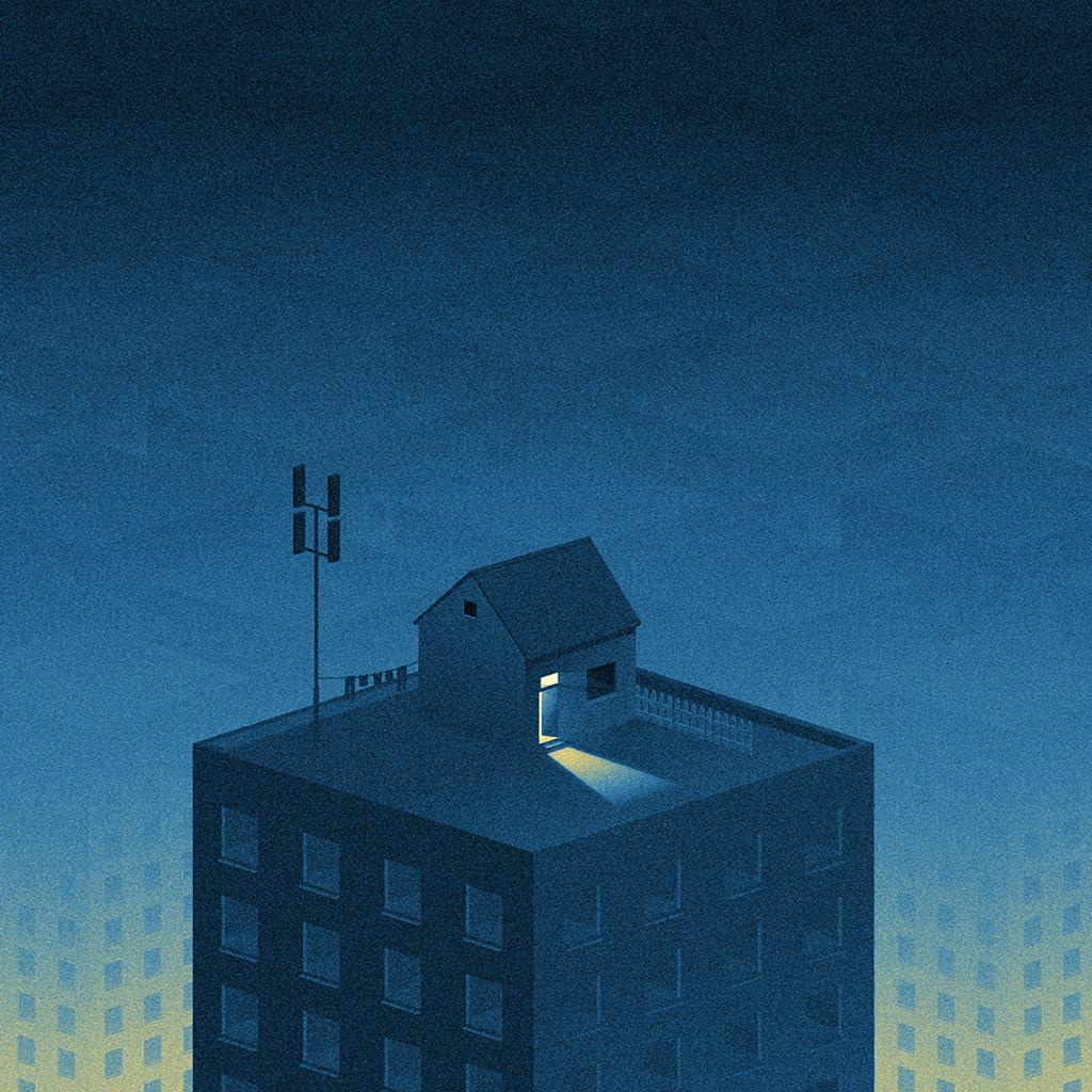 wallpaper-bi84-illust-blue-city-home-dot-art-wallpaper