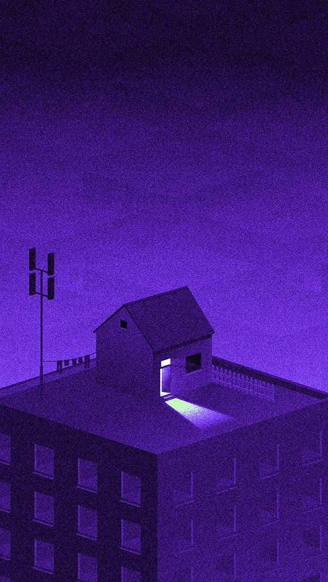 freeios8.com-iphone-4-5-6-plus-ipad-ios8-bi85-illust-purple-city-home-dot-art