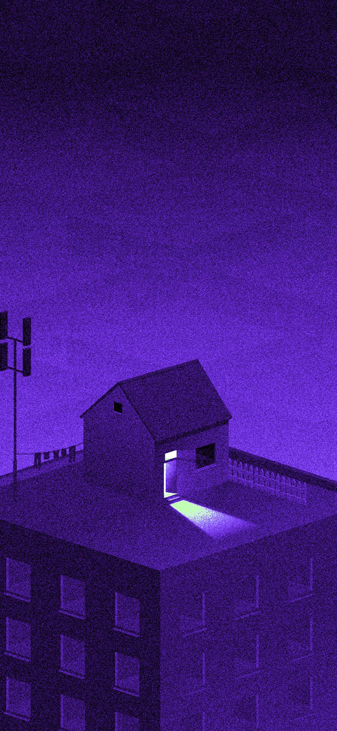 iPhonexpapers.com-Apple-iPhone-wallpaper-bi85-illust-purple-city-home-dot-art