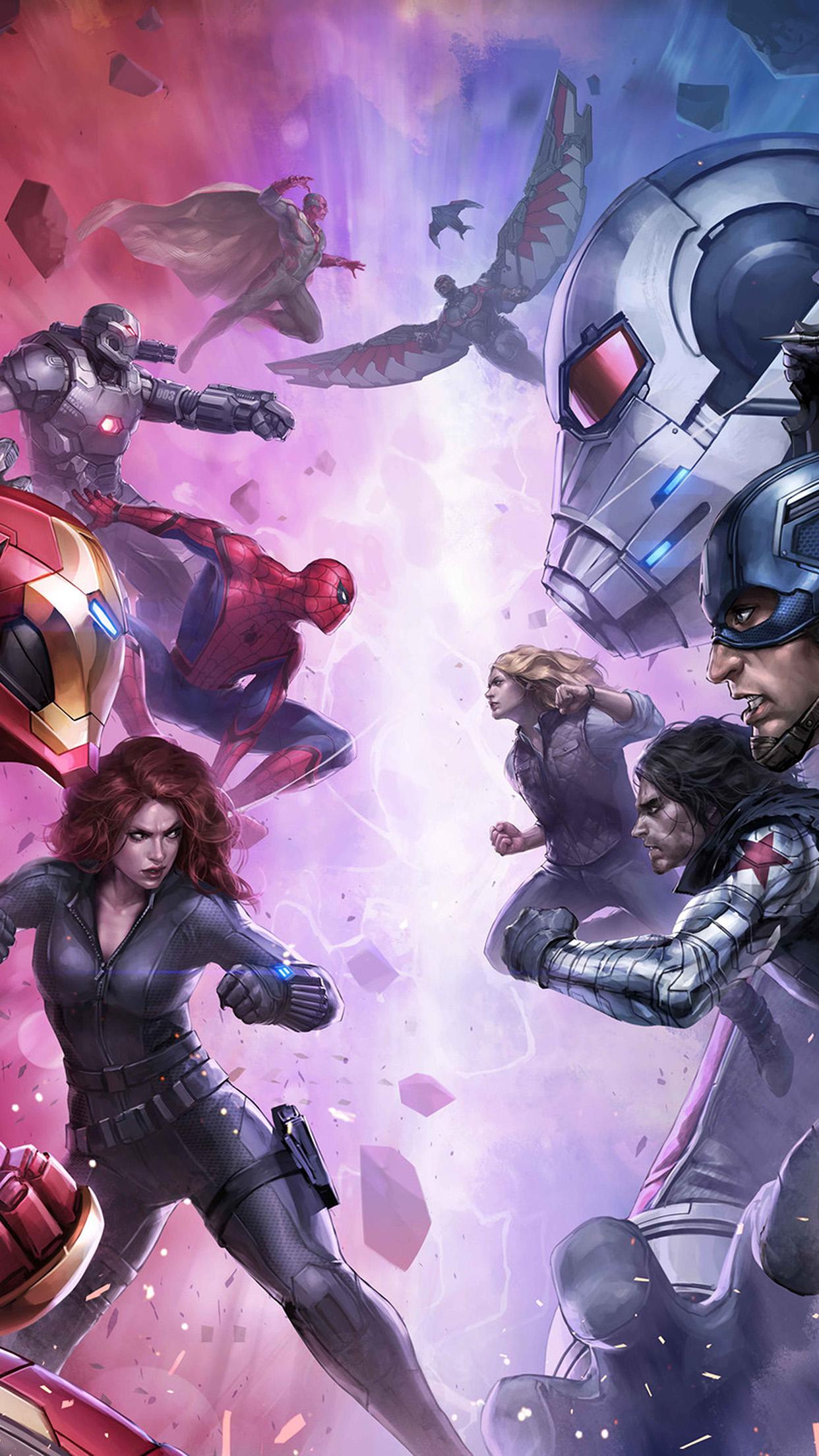 Bj07 Marvel Futurefight Hero Anime Art